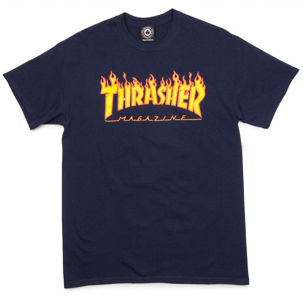Thrasher Magazine T-Shirt Flame - navy