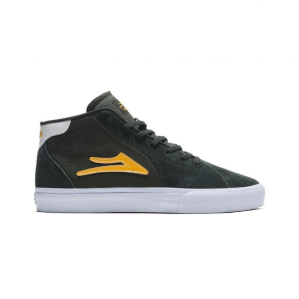 Lakai Flaco 2 Mid Schuhe olive yellow suede