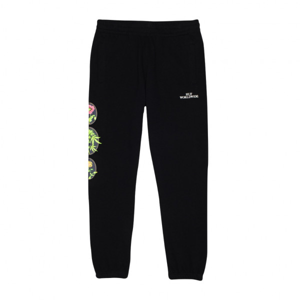 HUF Wild Flowers 2 Fleece Pant black