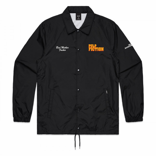 HUF Pulp Fiction Coach Jacket black