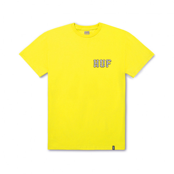 HUF T-Shirt Jacob Classic H - aurora yellow