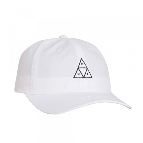 HUF Cap Triple Triangle Curved Visor - white