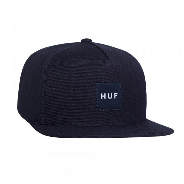 HUF Cap Box Logo Snapback - midnight