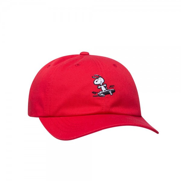 HUF 6 Panel Curved Peanuts Snoopy SK8 - red