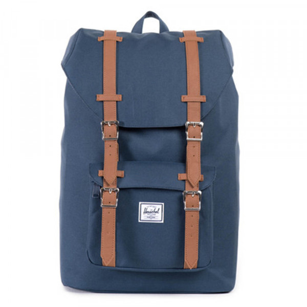 Herschel Supply Co. Rucksack Little America Mid-Volume - navy tan synthetic leather