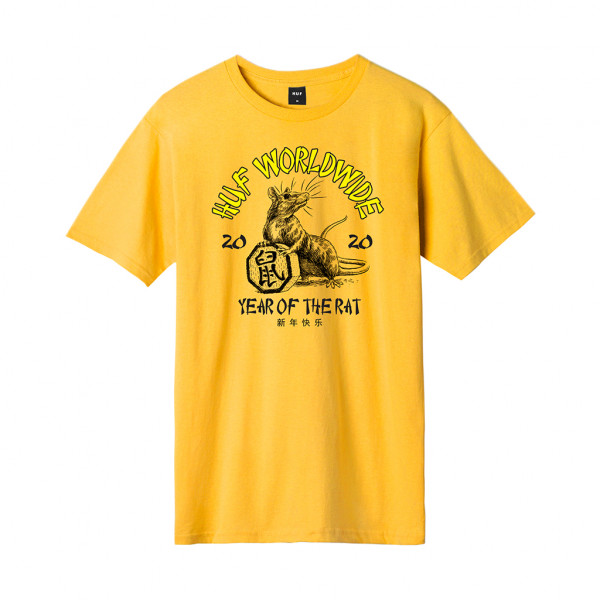 HUF Year Of The Rat T-Shirt gold