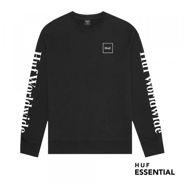 HUF Essentials Domestic Crew black