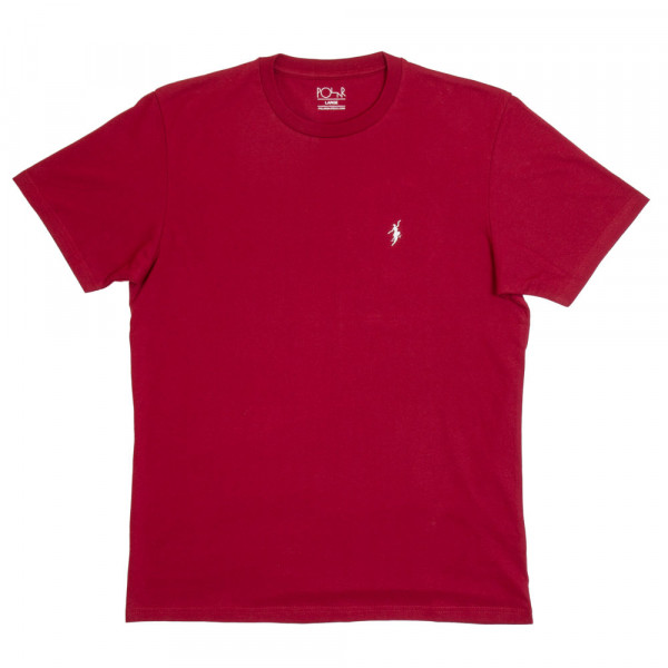 Polar Skateboards T-Shirt No Comply - red wine white