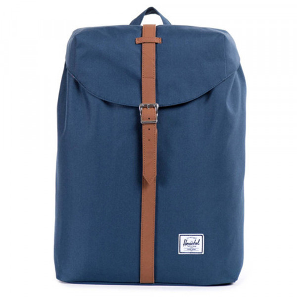 Herschel Supply Co. Rucksack Post - navy tan synthetic leather