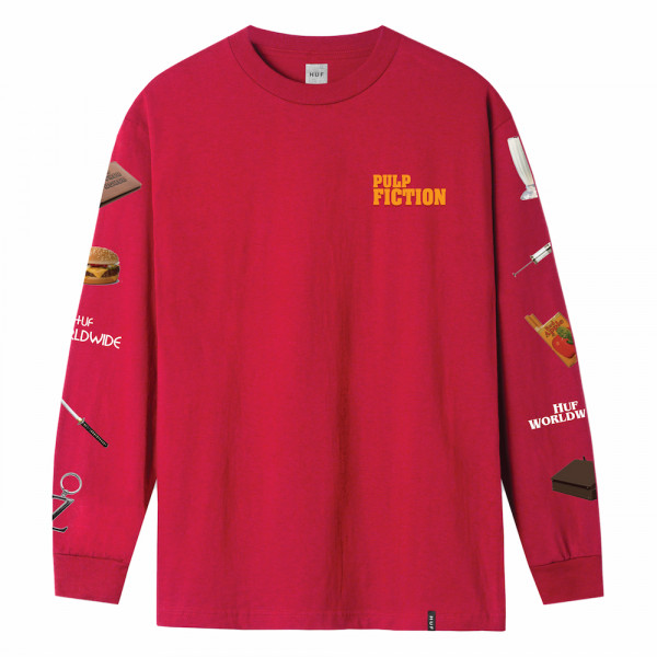 HUF Pulp Props Longsleeve red