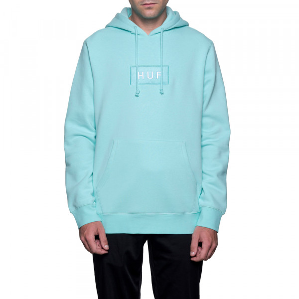 HUF Hooded Sweatshirt Bar Logo - celadon