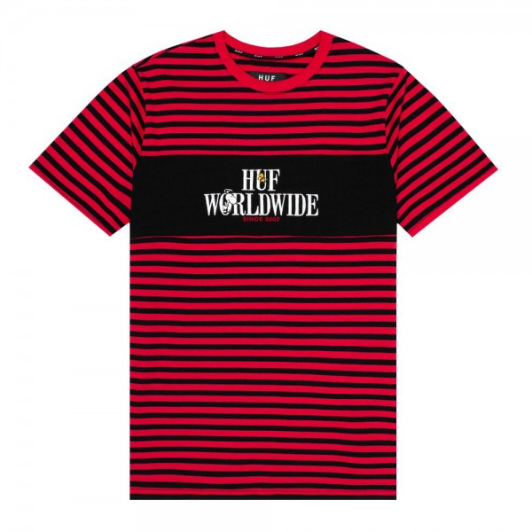 HUF T-Shirt Peanuts Party Animal Knit - red