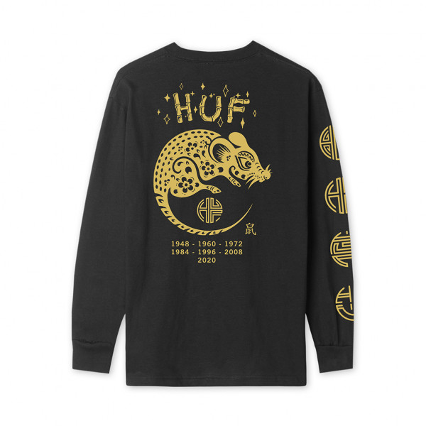 HUF Year Of The Rat Longsleeve black