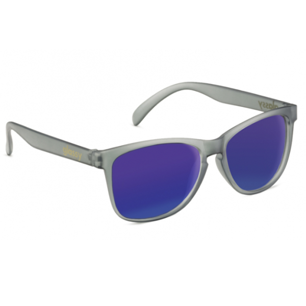 Glassy Sunhaters Sonnenbrille Deric - transparent grey blue mirror
