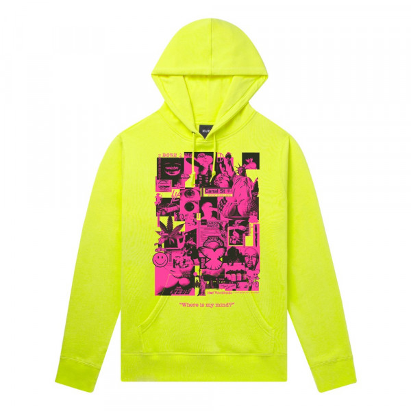 HUF Where Is My Mind Hoodie hot lime