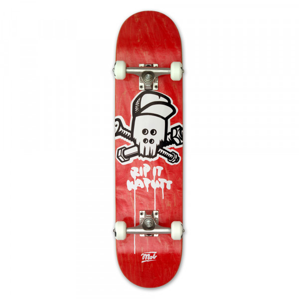 MOB Skateboards Komplettboard Skull red - 7.25