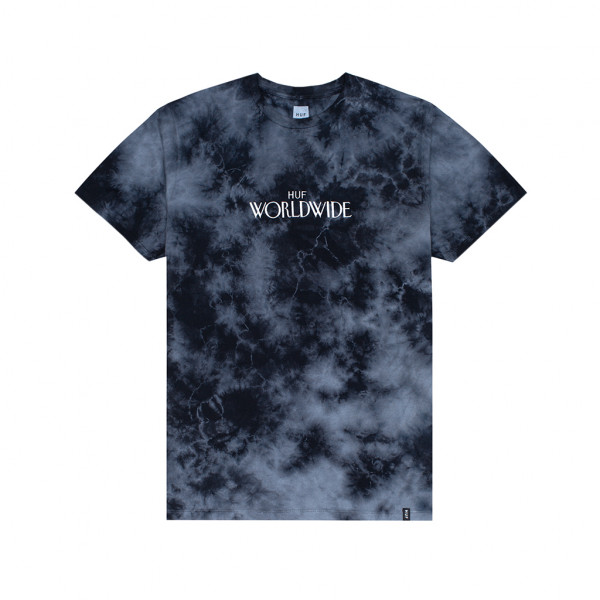 HUF T-Shirt Archive Crystal Wash - black