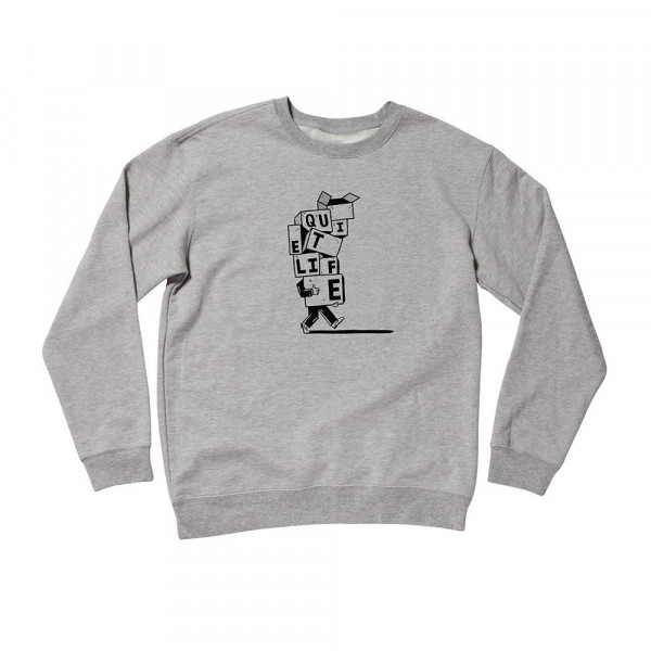 The Quiet Life Sweatshirt Stacked Boxes - heather grey