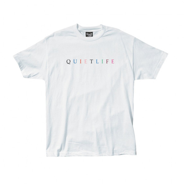 The Quiet Life T-Shirt Rainbow Premium - white