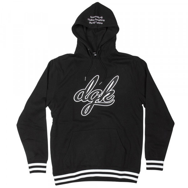 DGK Skateboards Hooded Sweatshirt Alumni Custom - black