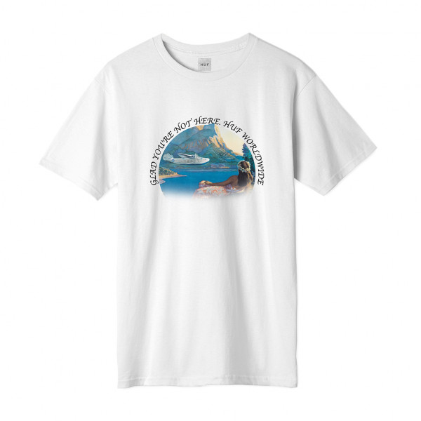 HUF Glad Youre Not Here T-Shirt white