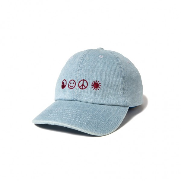 The Quiet Life Cap World Piece Dad Cap - denim