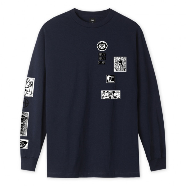 HUF Masters Longsleeve french navy