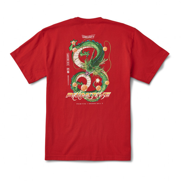 Primitive Shenron Dirty P T-Shirt red