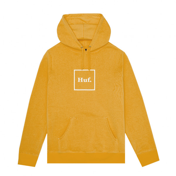 HUF Hoodie Essentials Box Logo - mineral yellow