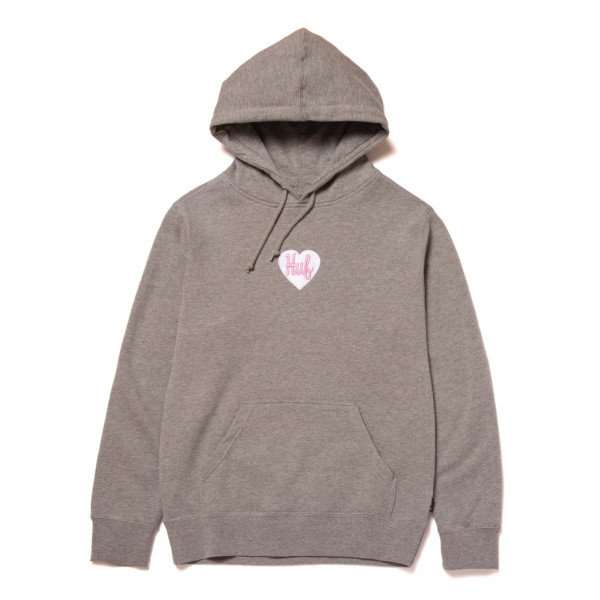 HUF Plastic Heart Hoodie grey heather
