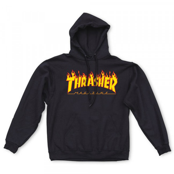 Thrasher Magazine Hooded Sweatshirt Flame - black
