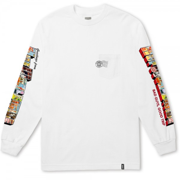HUF Longsleeve Greetings Pocket - black