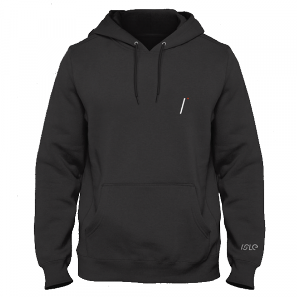 Isle Skateboards Hooded Sweatshirt I Logo - black