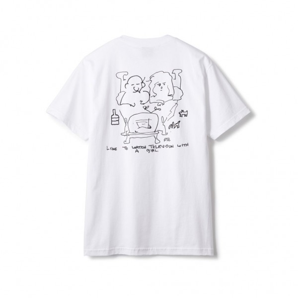 FTC T-Shirt With a Girl - white