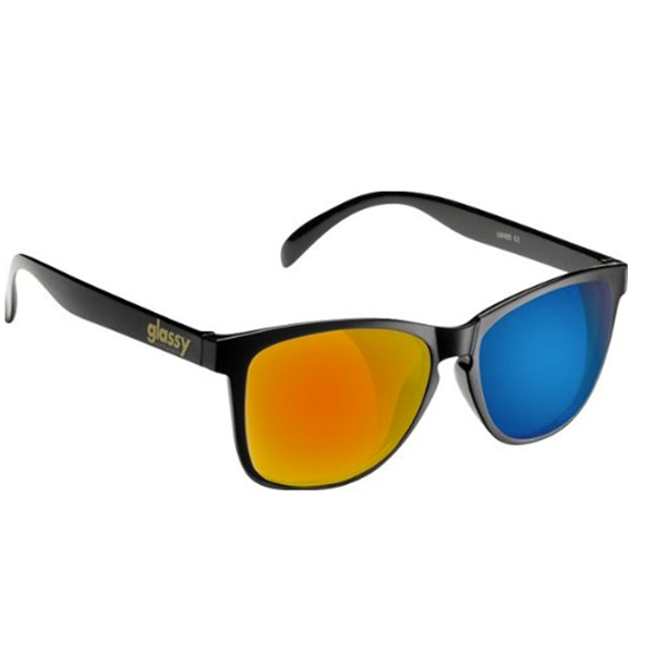 Glassy Sunhaters Sonnenbrille Deric - black red blue mirror