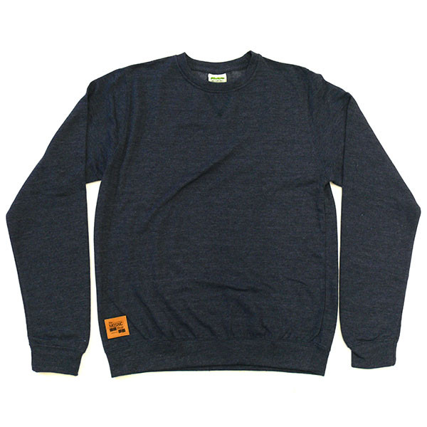 The MOSAIC Shop Sweatshirt Leather Patch - navy