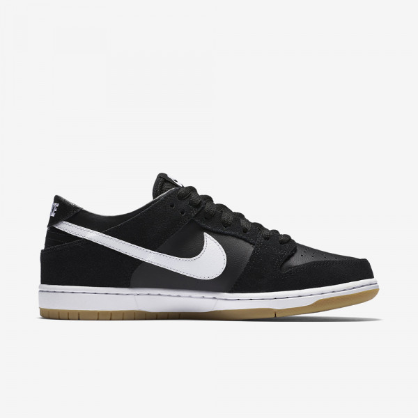 Nike SB Schuhe Zoom Dunk Low Pro - black white gum light brown