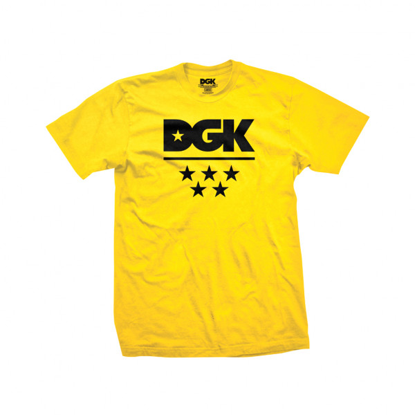DGK T-Shirt All Star - yellow