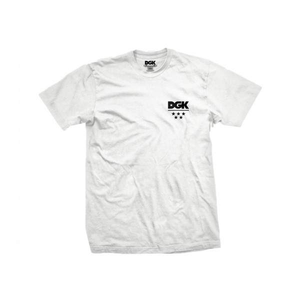 DGK T-Shirt All Star Mini Logo - white
