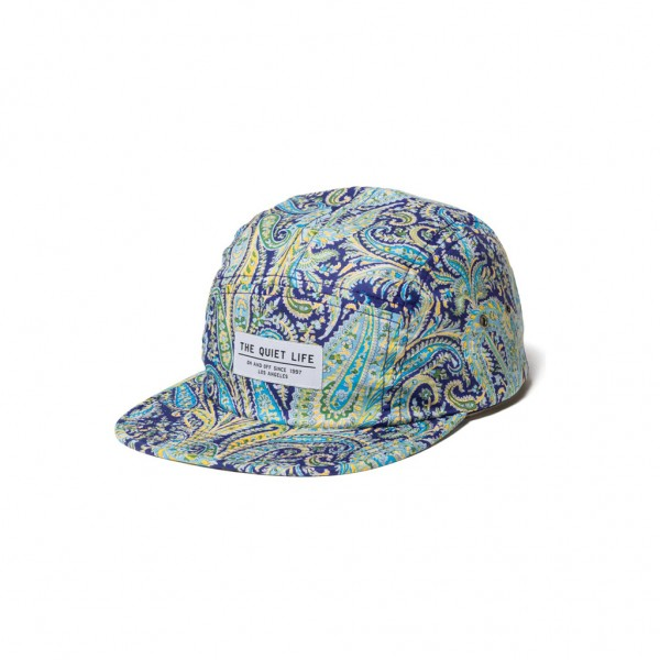 The Quiet Life Cap Pastel Paisley 5 Panel Camper Hat - aqua