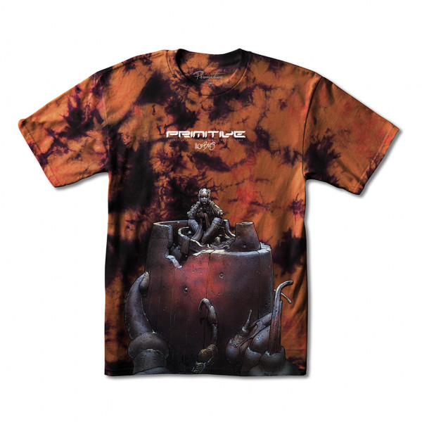 Primitive Anxiety Man Washed T-Shirt burnt orange