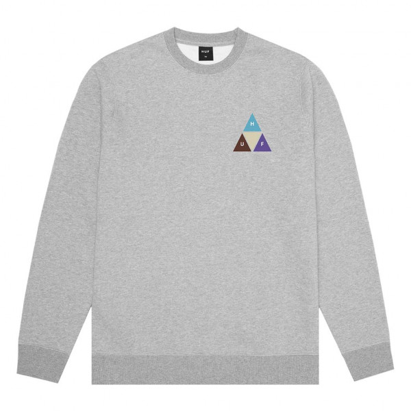 HUF Prism Trail Pullover grey heather