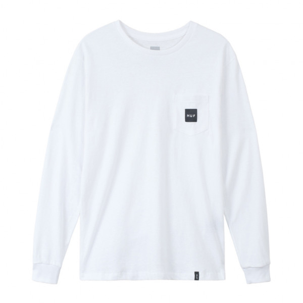 HUF Essential Box Logo Longsleeve - white