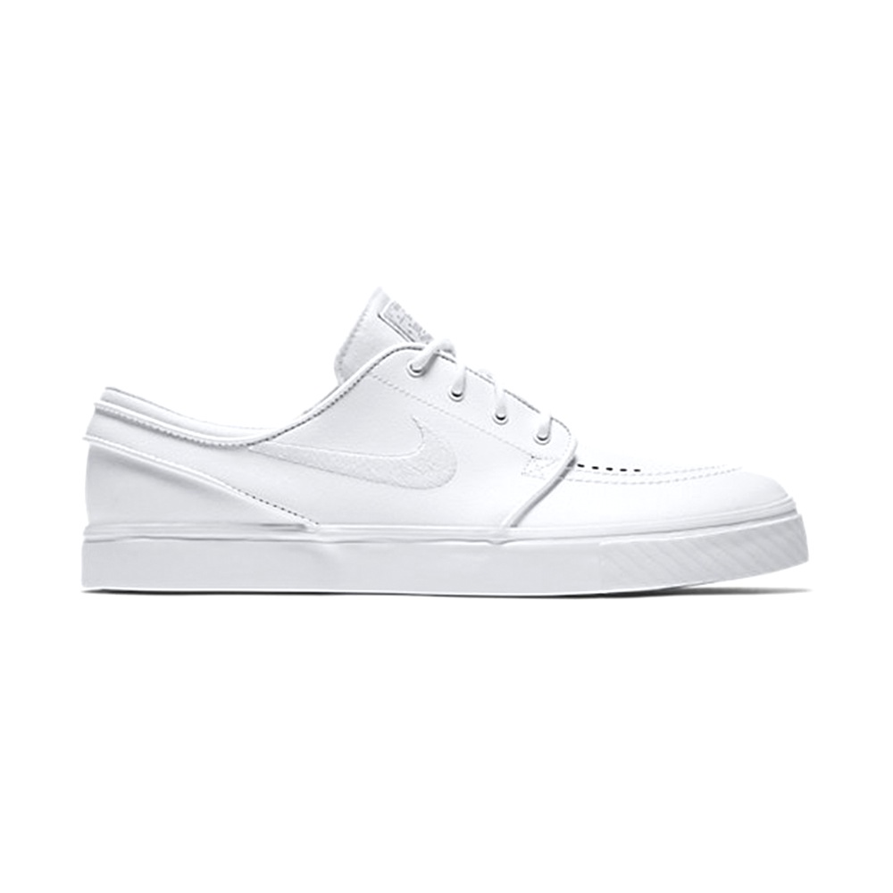 nike sb schuhe nike zoom stefan janoski leather white white wolf grey skateshoes jungs. Black Bedroom Furniture Sets. Home Design Ideas