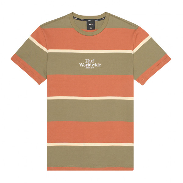 HUF Mazon Stripe T-Shirt Martini Olive
